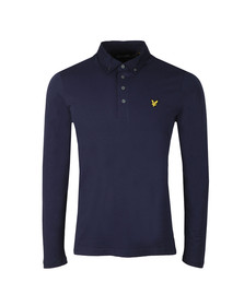 Lyle and Scott Mens Blue L/S Woven Polo