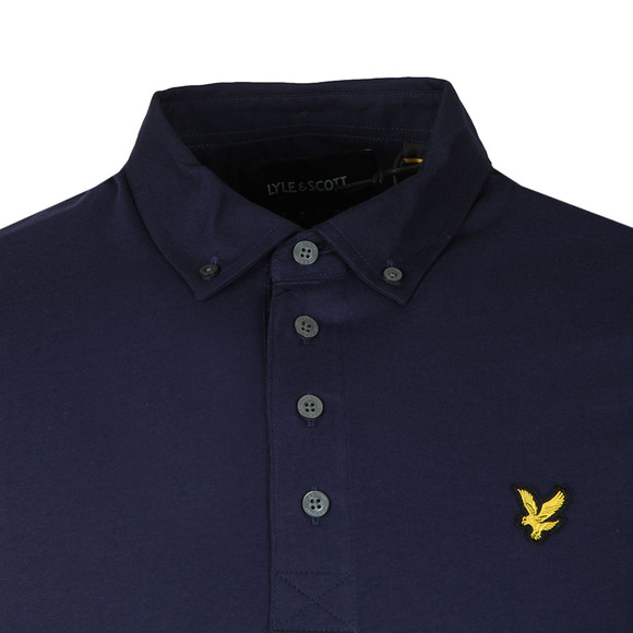 Lyle and Scott Mens Blue L/S Woven Polo main image