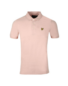 Lyle and Scott Mens Pink Plain Polo