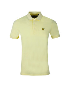 Lyle and Scott Mens Yellow Plain Polo