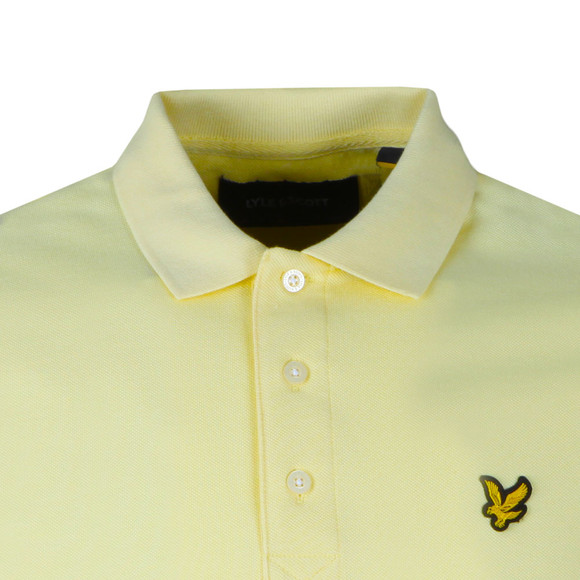 Lyle and Scott Mens Yellow S/S Polo main image