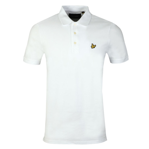 Lyle and Scott Mens White S/S Polo main image