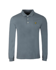 Lyle and Scott Mens Blue LS Polo Shirt