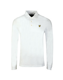 Lyle and Scott Mens White LS Polo Shirt