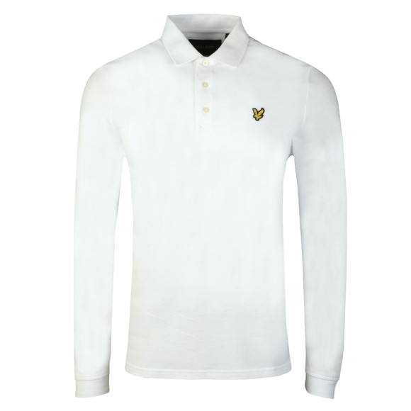 Lyle and Scott Mens White LS Polo Shirt main image
