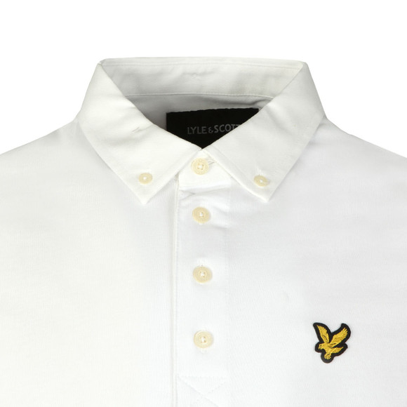 Lyle and Scott Mens White S/S Woven Polo main image