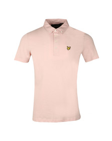 Lyle and Scott Mens Pink S/S Woven Polo