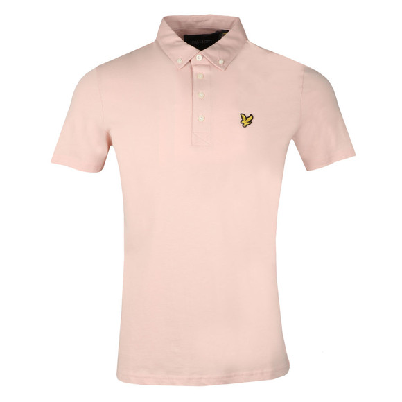 Lyle and Scott Mens Pink S/S Woven Polo main image