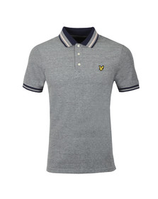 Lyle and Scott Mens Blue S/S Tipped Polo