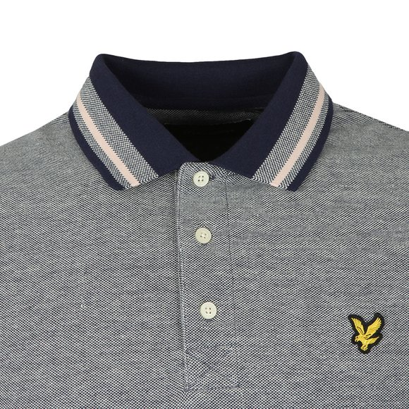 Lyle and Scott Mens Blue S/S Tipped Polo main image