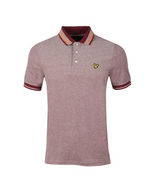 Lyle and Scott Mens Red S/S Tipped Polo