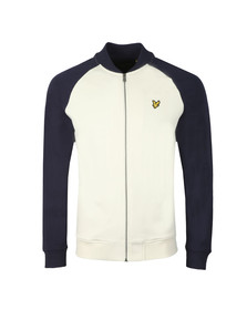 Lyle and Scott Mens Off-white Bomber Sweatshirt