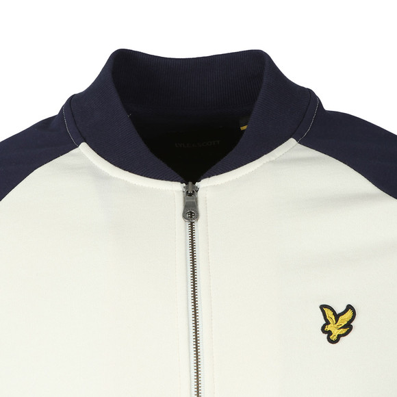 Lyle and Scott Mens Off-white Bomber Sweatshirt main image