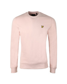 Lyle and Scott Mens Pink Crew Neck Sweatshirt