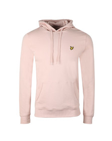 Lyle and Scott Mens Pink Pullover Hoody