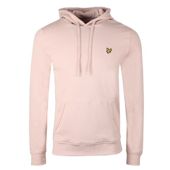 Lyle and Scott Mens Pink Pullover Hoody main image