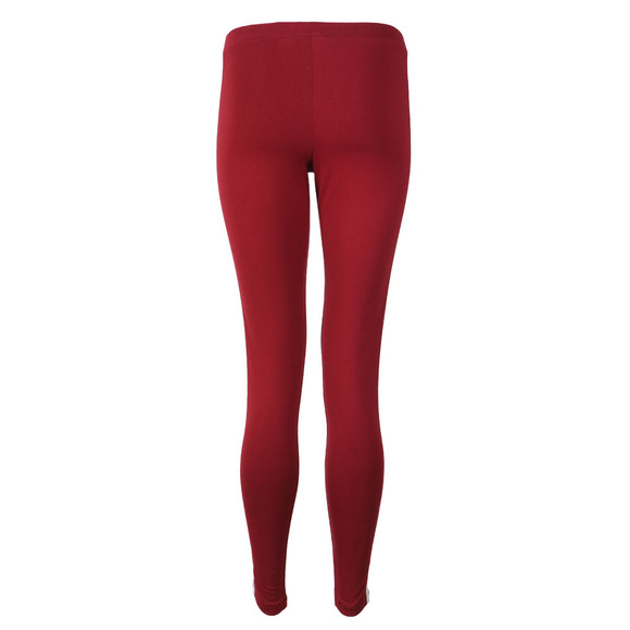 adidas Originals Womens Red 3 Stripe Leggings main image