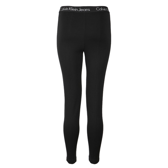 Calvin Klein Jeans Womens Black Pilla Elastic Logo Leggings main image
