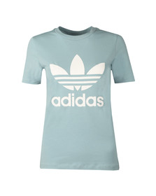 Adidas Originals Womens Green Trefoil T Shirt