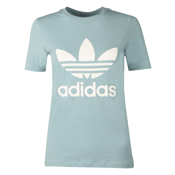 Adidas Originals Womens Green Trefoil T Shirt main image