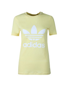 Adidas Originals Womens Yellow Trefoil T Shirt