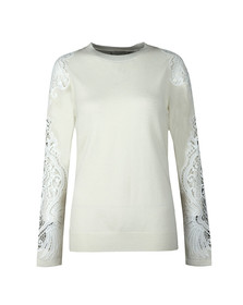 Ted Baker Womens Off-White Shelsin Lace Detail Jumper