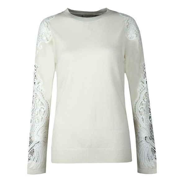 Ted Baker Womens Off-White Shelsin Lace Detail Jumper main image