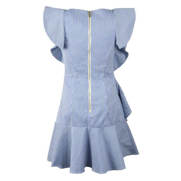Ted Baker Womens White Nemera Stripe Frills Dress main image