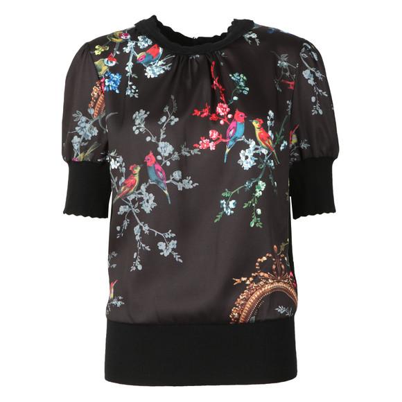 Ted Baker Womens Black Natiee Opulent Fauna Short Sleeve Knit main image