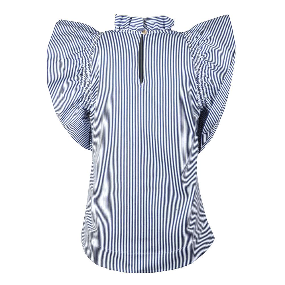 Sabiya Frilled Sleeve High Neck Top main image