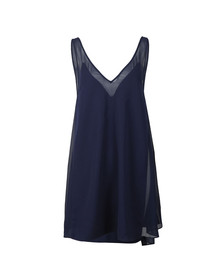 Ted Baker Womens Blue Rosaay Mesh Panelled Cover Up