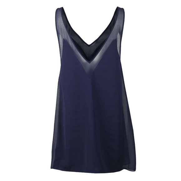 Ted Baker Womens Blue Rosaay Mesh Panelled Cover Up main image