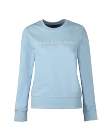 Calvin Klein Jeans Womens Blue Halia Institutional Sweatshirt
