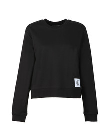 Calvin Klein Womens Black Harrisi Crew Neck Sweat