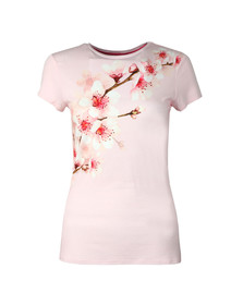Ted Baker Womens Pink Bluuma Soft Blossom Fitted T Shirt