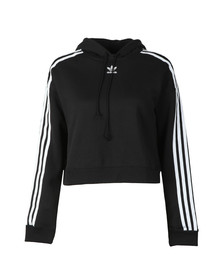 Adidas Originals Womens Black Cropped Hoody