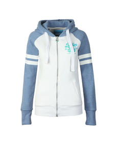 Superdry Womens White Real Vintage Irisdecent Zip Hoody
