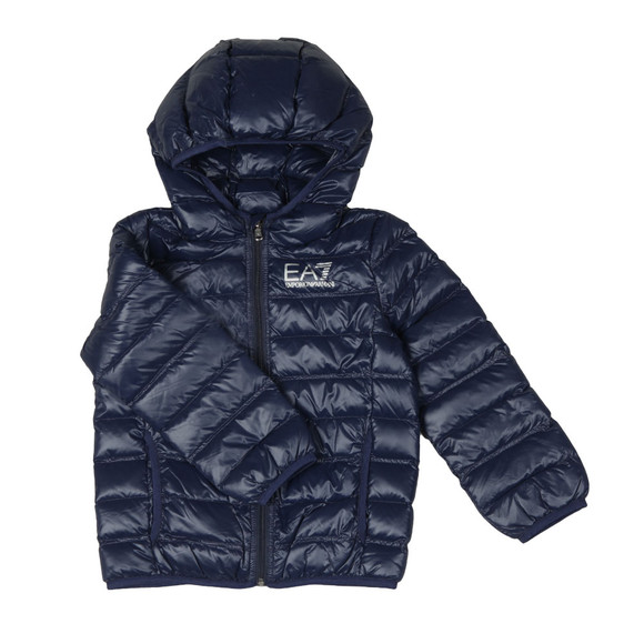 EA7 Emporio Armani Boys Blue Down Puffer Jacket