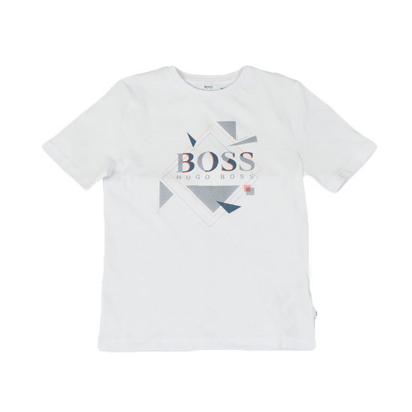BOSS Loungewear Boys White Boys J25B89 Large Logo T Shirt main image
