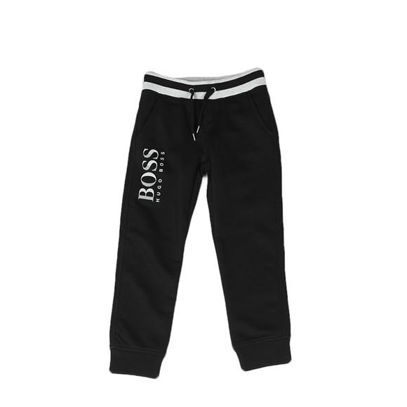 BOSS Loungewear Boys Black Boys J24543 Logo Jogger main image