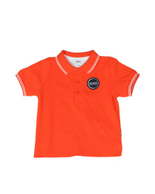 Boss Boys Orange Baby Circle Logo Polo Shirt