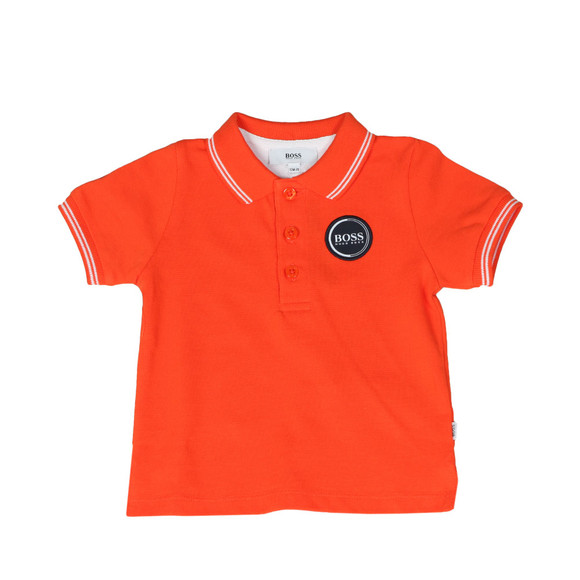 BOSS Baby Boys Orange Circle Logo Polo Shirt main image