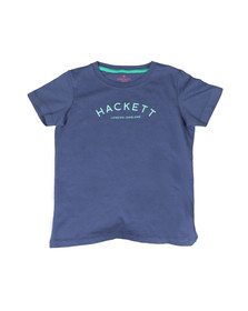 Hackett Boys Blue Boys Chest Print T Shirt