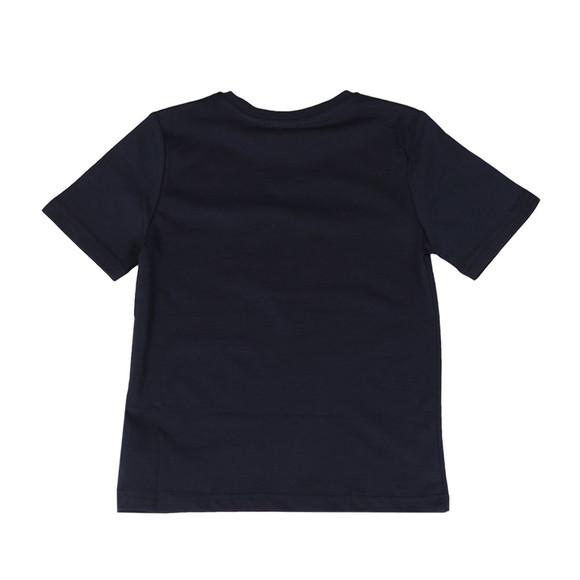 BOSS Boys Blue Boys J25B89 Large Logo T Shirt main image