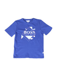 BOSS Boys Blue Boys J25B89 Large Logo T Shirt
