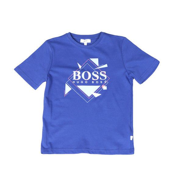 Boss Boys Blue Boys J25B89 Large Logo T Shirt main image