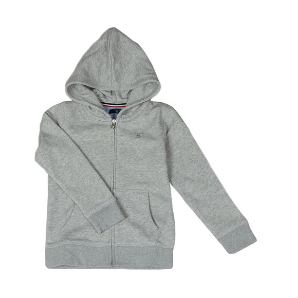 Gant Boys Grey Boys Original Zip Hoody main image