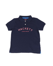 Hackett Boys Blue Boys Chest Print Polo Shirt