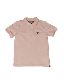 Lyle And Scott Junior Boys Pink Classic Marl Polo Shirt