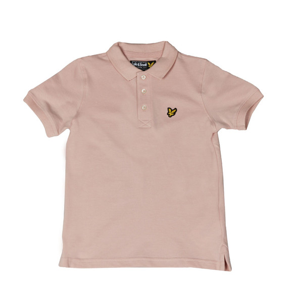 Lyle And Scott Junior Boys Pink Classic Marl Polo Shirt main image